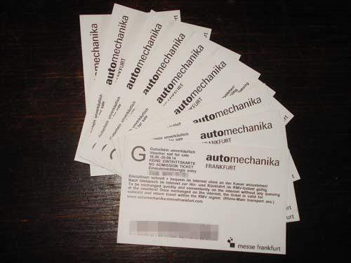 Der Fusselblog verlost 10x 2 Freikarten für die Automechanika 2014