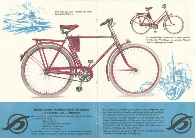 Prospekt Hoffmann Fahrräder 1949