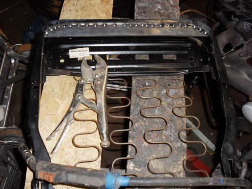 Sitzgestell umbauen