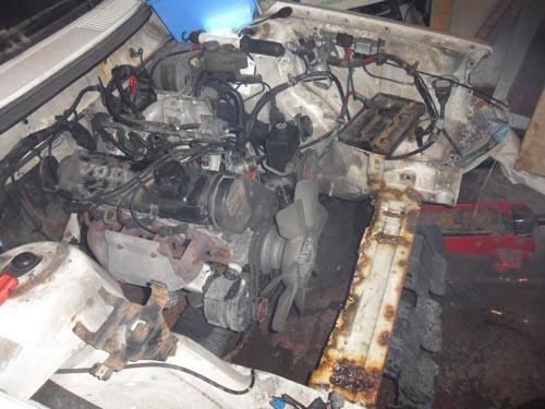 Motorausbau Volvo 240