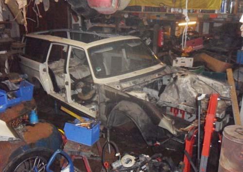 Volvo 245 Schlachtung