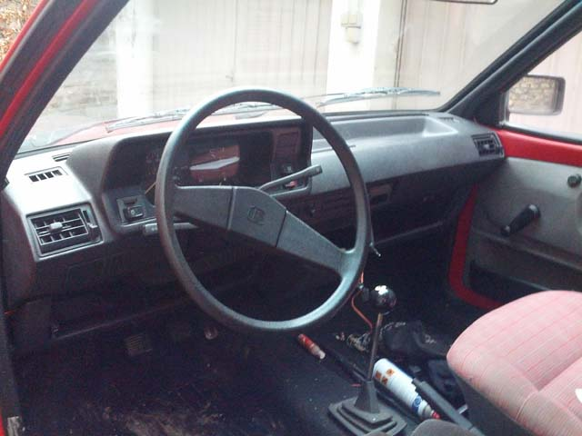 VW Polo 86C Fox Innenraum