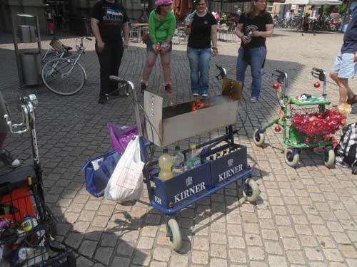 Spießbratengrill Rollator