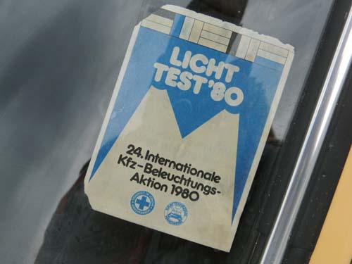 Lichttest 1980 Aufkleber