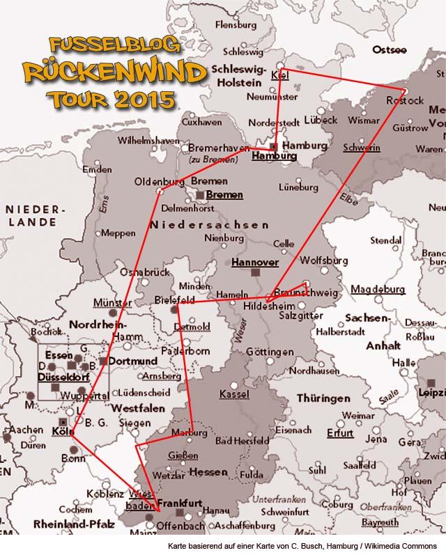 Fusselblog Rückenwind Tour 2015